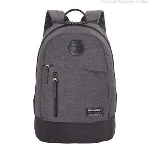 Рюкзак WENGER 13'', cерый, ткань Grey Heather/ полиэстер 600D PU , 32х16х45 см, 22 л. Арт.  5319424422