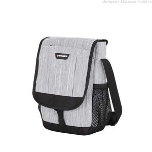 Сумка наплечная вертикальная WENGER, cерая, ткань Grey Heather/ полиэстер 600D PU, 19 x 7 x 27 см . Арт.  2365424532